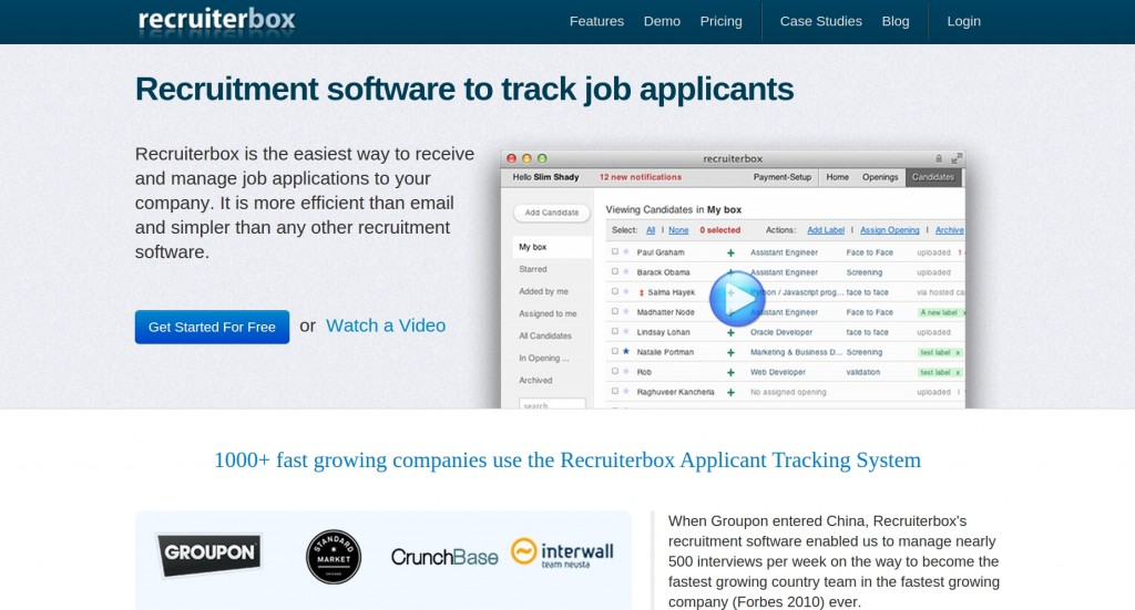 recruiterbox-old-homepage